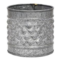 Stonebriar Collection Galvanized Metal Farmhouse Bucket Table Decor