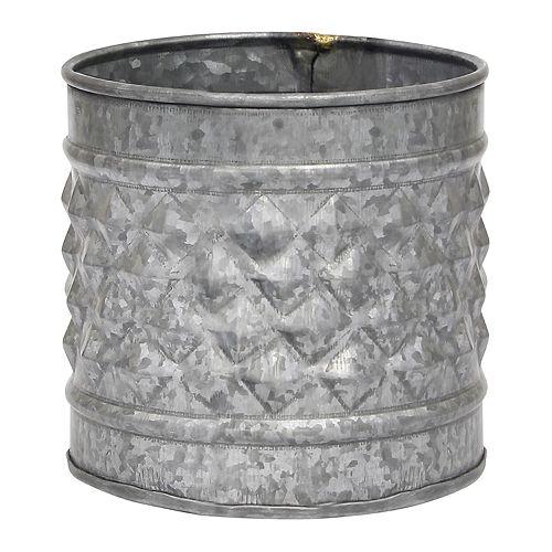 Stonebriar Collection Galvanized Metal Farmhouse Bucket Table Decor