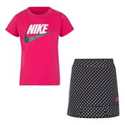 Girls 4-6x Nike Tee & Polka-Dot Skort Set