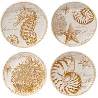 Certified International Coastal Discoveries 4 pc Dessert Plate Set