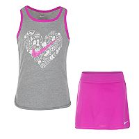 Girls 4-6x Nike Heart & Swoosh Graphic Tank Top & Skirt Set