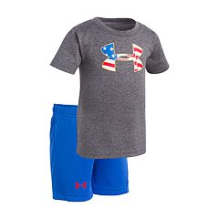 Baby Boy Under Armour Americana Logo Graphic Tee & Shorts Set