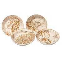 Certified International Coastal Discoveries 4 pc Soup / Pasta Bowl Set