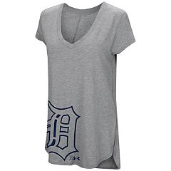 Women's Under Armour Detroit Tigers Pride Hem Graphic Tee