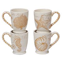 Certified International Coastal Discoveries 4-pc. Mug Set