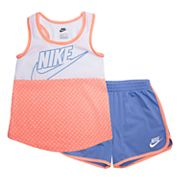 Girls 4-6x Nike Polka-Dot Tank Top & Shorts Set