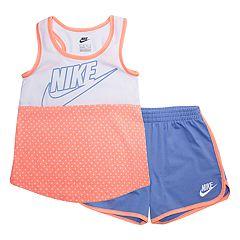Girls 4-6x Nike Polka-Dot Tank Top & Shorts Set