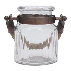 Stonebriar Collection Coastal Glass Jar Table Decor