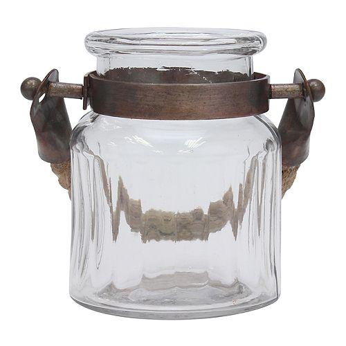Stonebriar Collection Coastal Glass Jar Table Decor