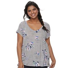 Juniors' Plus Size SO® Cross-Back Tee