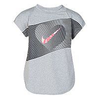 Girls 4-6x Nike Metallic Line Heart High-Low Hem Tee