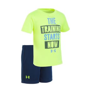 """Baby Boy Under Armour """"The Training Starts Now"""" Graphic Tee & Shorts Set"""