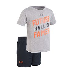 Baby Boy Under Armour 'Future Hall Of Famer' Graphic Tee & Shorts Set