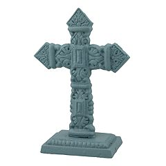 Stonebriar Collection Iron Cross Table Decor