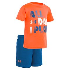 Baby Boy Under Armour 'All Day I Play' Graphic Tee & Shorts Set