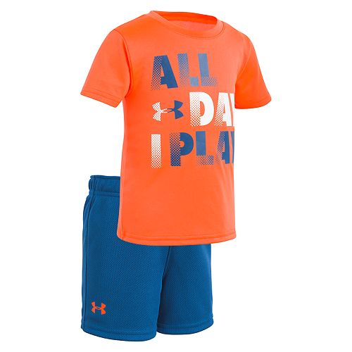 """Baby Boy Under Armour """"All Day I Play"""" Graphic Tee & Shorts Set"""