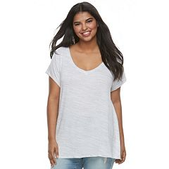 Juniors' Plus Size SO® Crossback Tee