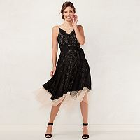 Women's LC Lauren Conrad Lace Handkerchief Hem Midi Dress