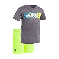 Baby Boy Under Armour Wordmark Graphic Tee & Shorts Set