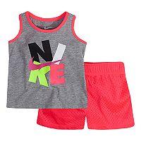 Girls 4-6x Nike Swoosh Graphic Tank & Mesh Shorts Set