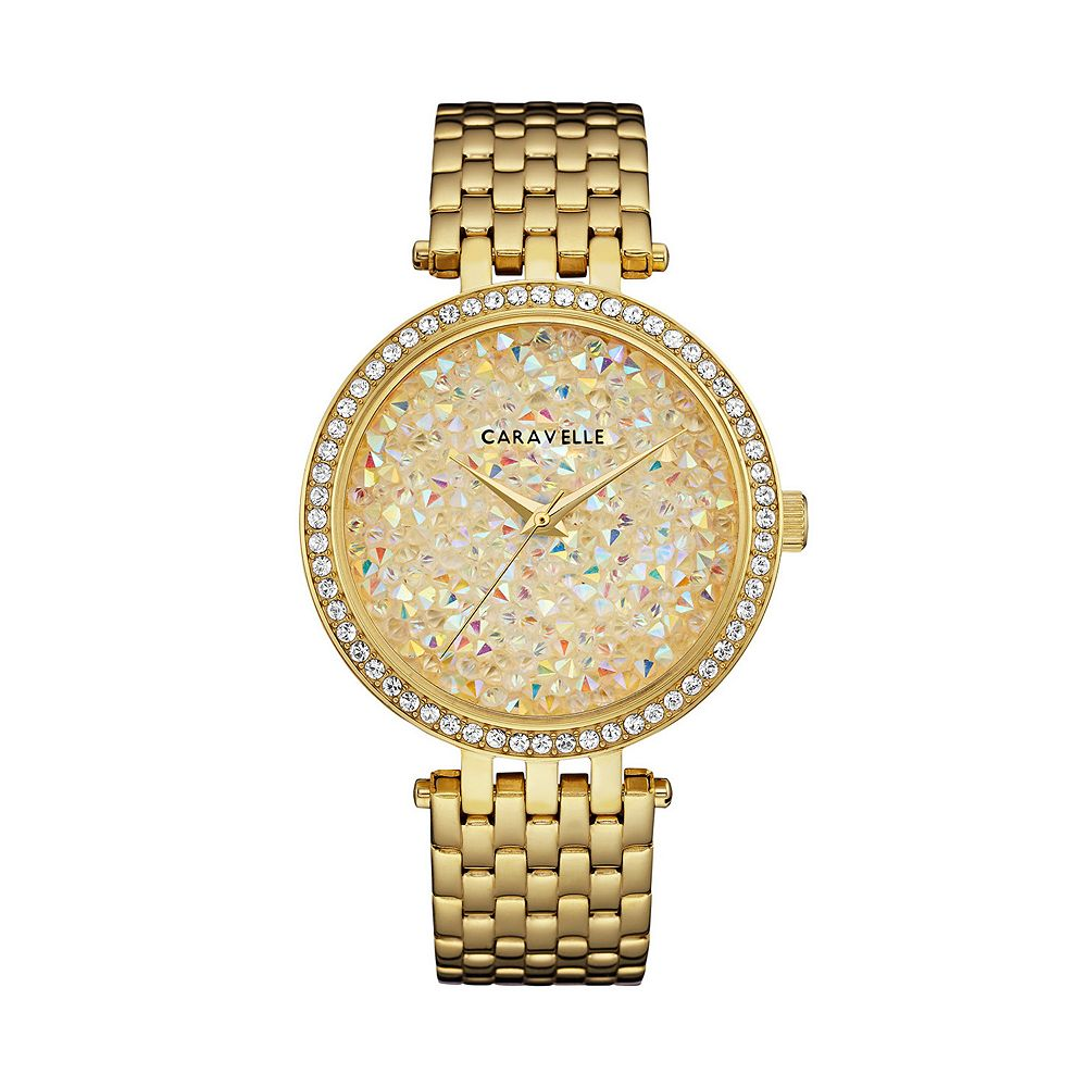 Caravelle by Bulova Women's Crystal Pave Stainless Steel Watch - 44L235