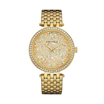 Caravelle Women's Crystal Pave Stainless Steel Watch - 44L235