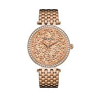 Caravelle Women's Crystal Pave Stainless Steel Watch - 44L236