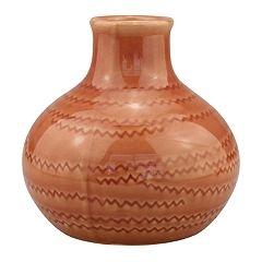 Stonebriar Collection Round Ceramic Vase