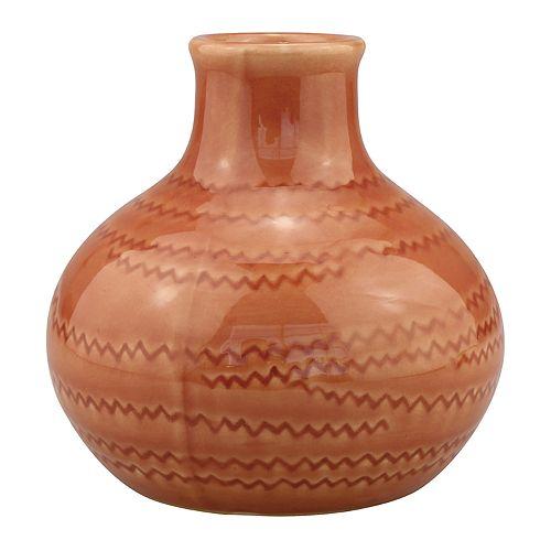 Stonebriar Collection Round Ceramic Vase