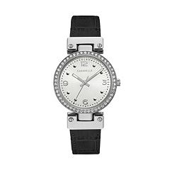 Caravelle Women's Crystal Reversible Leather Watch - 43L208