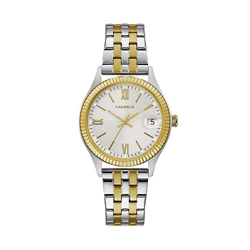 Caravelle by Bulova Women's Two Tone Stainless Steel Watch - 45M112