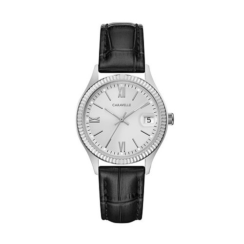Caravelle Women's Leather Watch - 43M116