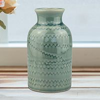 Stonebriar Collection Turquoise Ceramic Vase