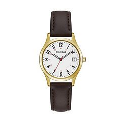 Caravelle Women's Easy Reader Leather Watch - 44M112