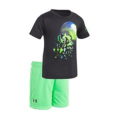 Baby Boy Under Armour Baseball Explosion Grahpic Tee & Shorts Set