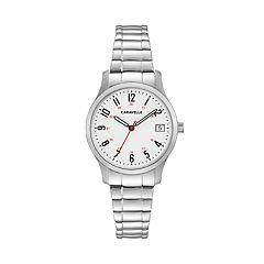 Caravelle Women's Easy Reader Stainless Steel Expansion Watch - 43M119