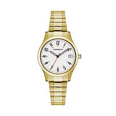 Caravelle Women's Easy Reader Stainless Steel Expansion Watch - 44M113