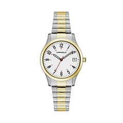 Caravelle Women's Easy Reader Two Tone Stainless Steel Expansion Watch - 45M111