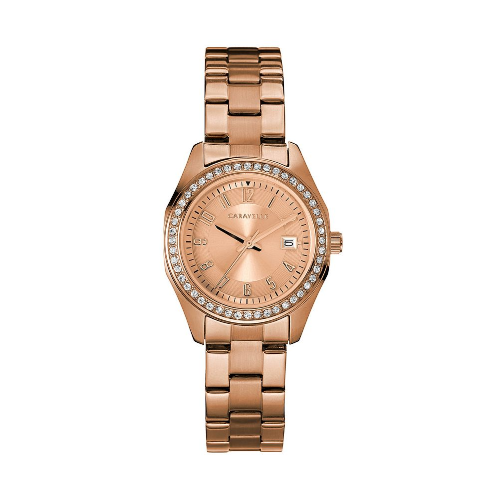 Caravelle by Bulova Women's Crystal Stainless Steel Watch - 44M114