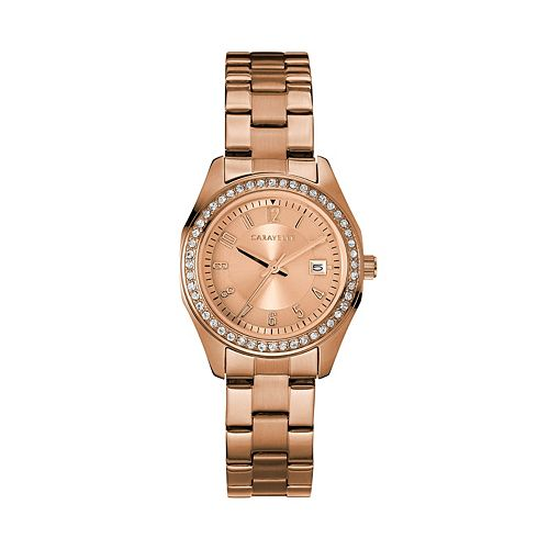 Caravelle Women's Crystal Stainless Steel Watch - 44M114