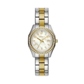 Caravelle Women's Crystal Two Tone Stainless Steel Watch - 45M113