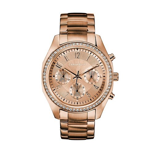 Caravelle Women's Crystal Stainless Steel Chronograph Watch - 44L240