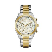 Caravelle Women's Crystal Two Tone Stainless Steel Chronograph Watch - 45L169