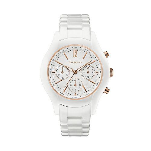 Caravelle Women's Ceramic Chronograph Watch - 45L174