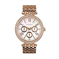 Caravelle Women's Crystal Stainless Steel Watch - 44N111