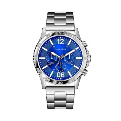 Caravelle Men's Stainless Steel Chronograph Watch - 43A145