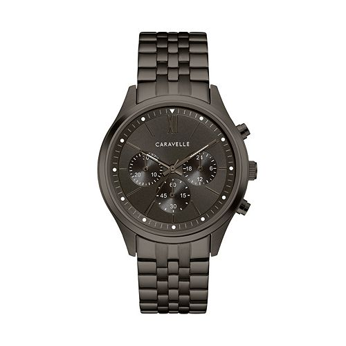 Caravelle Men's Gunmetal Ion-Plated Stainless Steel Chronograph Watch - 45A141