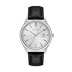 Caravelle Men's Leather Watch - 43B150