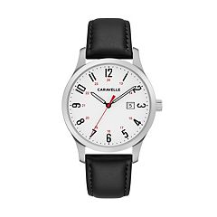 Caravelle Men's Easy Reader Leather Watch - 43B152
