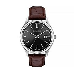 Caravelle Men's Leather Watch - 43B156